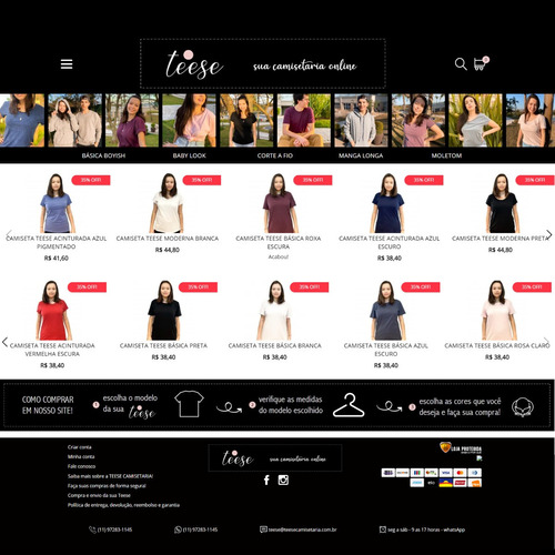 Estoque Com 280 Camisetas Novas + Loja Online Completa!