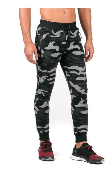 Pantalón Jogger Pants Negro Camo Caballero