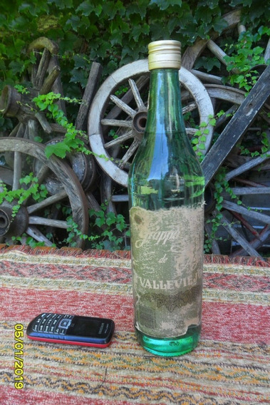 Antigua Botella De Grappa Valle Viejo Cerrada Leer