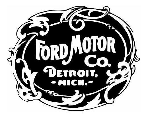 Adesivo Ford Logo 1903 Simbolo Vintage Retro Carro Kit12pcs