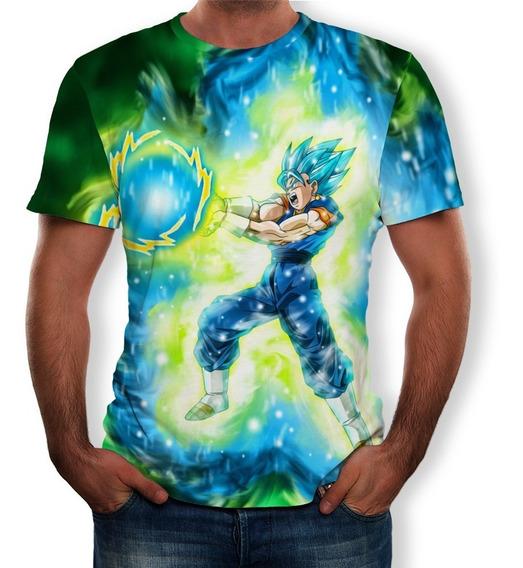 Dragon Ball 3d Impresión Casual Hombres Camiseta Elegante