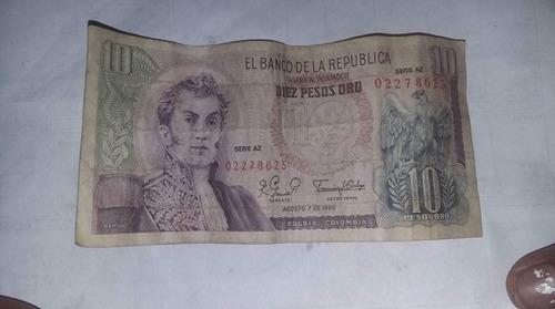Imagen 1 de 6 de Biletes De Peso Oro