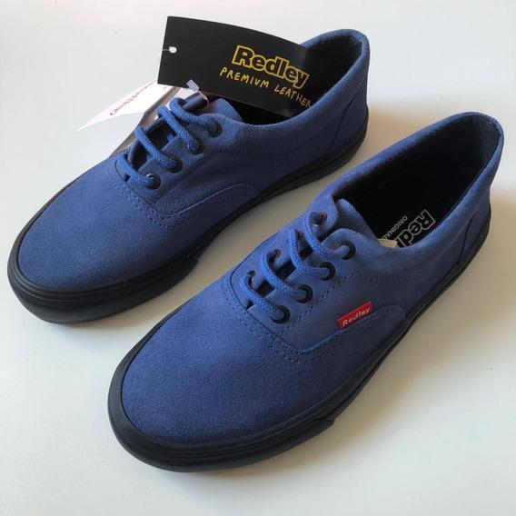 Tenis Orginals Redley Ir 10 Vulcanizado Lona - Azul Camurça