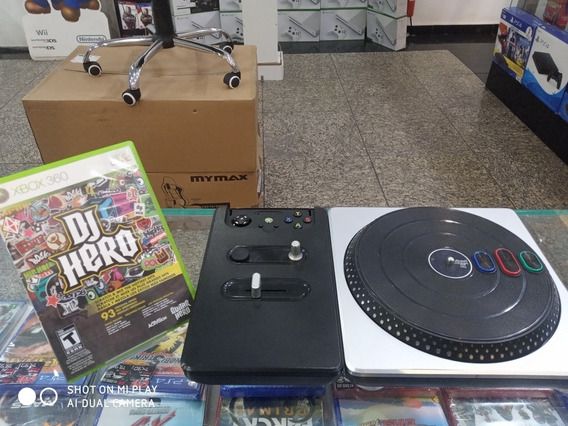 Jogo Dj Hero 1 + Picape Xbox 360 Original Seminovo