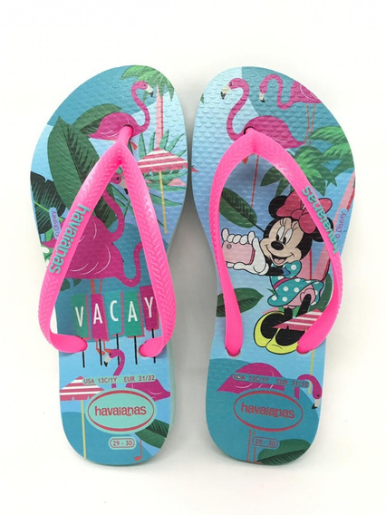 Chinelo Havaianas Infantil Disney Cool Minnie Colonelli