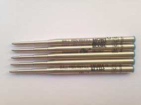 5 Cargas Para Caneta Montblanc Esfero Azul Ball Pen Refill