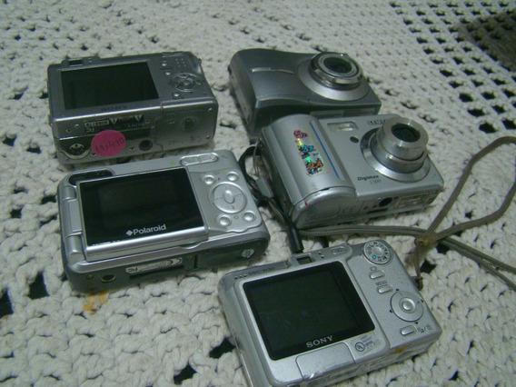 Lote 5 Câmeras Digitais Para Consertar
