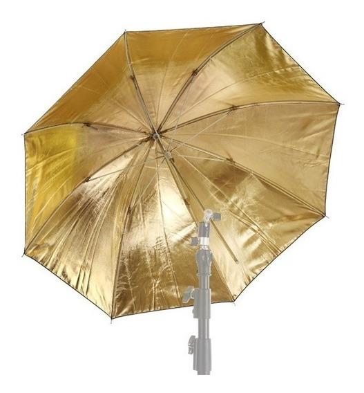 Sombrinha Refletora Dourada Rebatedora Flash Estúdio