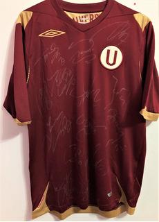 Camisa Universitario Lima 2008 Autografada Vários Jogadores