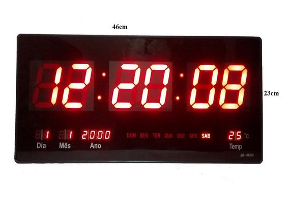 Relógio Parede Digital Painel Led Grande,data,termometro-g