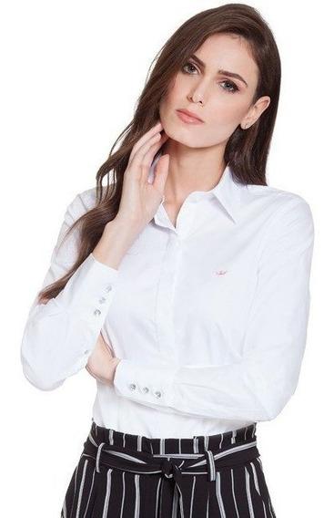 Camisa Social Feminina Branca Diane