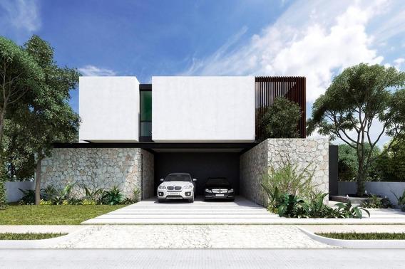 Casa De Lujo De 4 Habitaciones En Privada Kutz, Country Club, Yiucatan (ap)