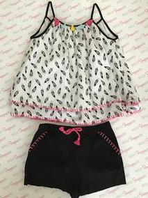 Acacia Blusa Y Short Niña Talla 4