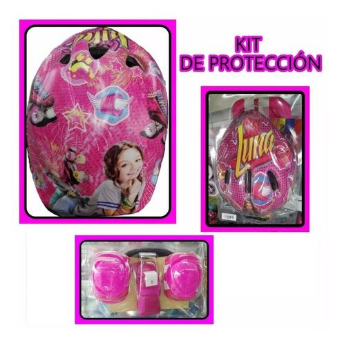 Kit De Protección Patinaje Soy Luna Frozen Y Princesa
