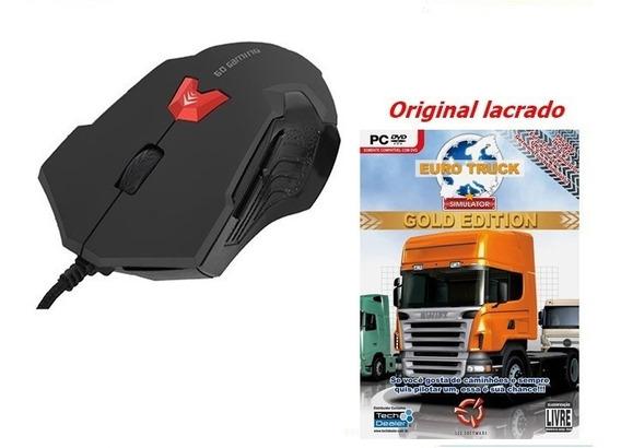 Mouse Gamer Bright 2400 Dpi Usb 6 Botões + Euro Truck - Pc