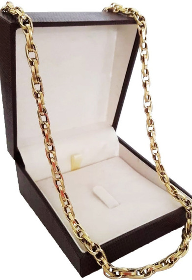 Corrente Cordão Baguete Duplo 20,6g 65cm Ouro 18k P. Entrega