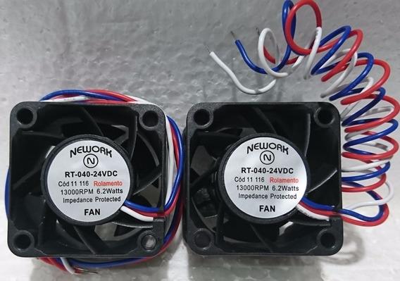 2 Coolers Nework 40x40x28mm 24v 13000 Rpm Rol 11.116