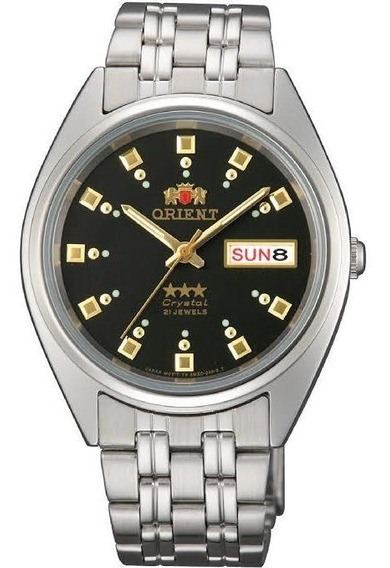 Reloj Orient Automático Plateado Negro Fab00009b9 De Hombre