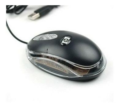 Mouse Optico Hp Con Cable Laptop Pc Luz Led