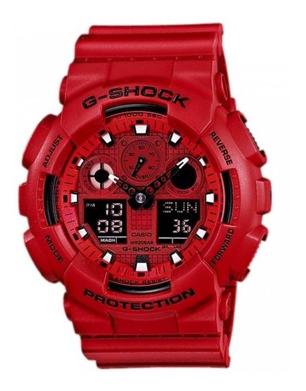 Promoção Relógio Casio G-shock Anadigi Ga-100c-4adr Original