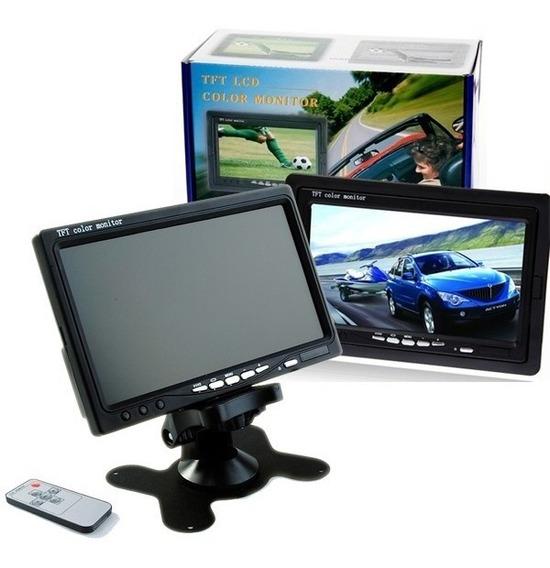 Tela Veicular Lcd Monitor Digital Portátil 7 Pol Cftv Gps