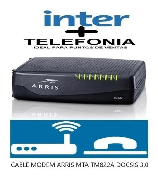 Cable Modem Arriz Tm822a Inter Mta. 3.0. Pto D Vta Telefonia