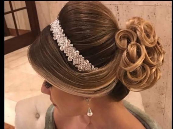 Coroa Tiara Noiva Casamento/15 Anos Swarovski