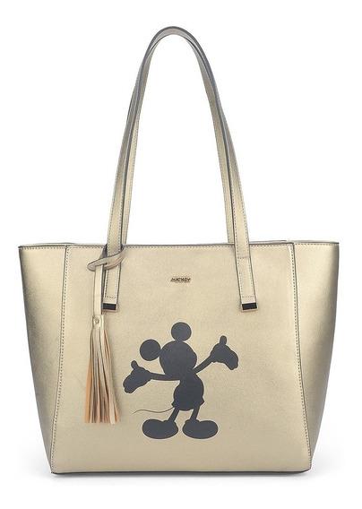 Bolsa De Ombro Disney Mickey Mouse Ouro Luxo Original Nota