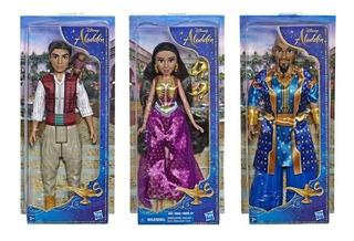 Coleção 3 Bonecos Aladdin 30cm Disney Basico - Hasbro E5446