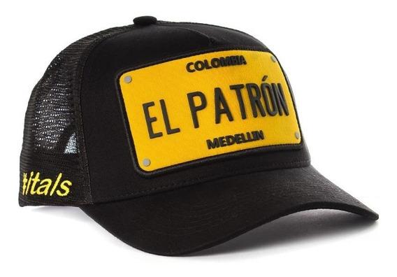 Boné Itals El Patron Black Yellow - Pablo Escobar