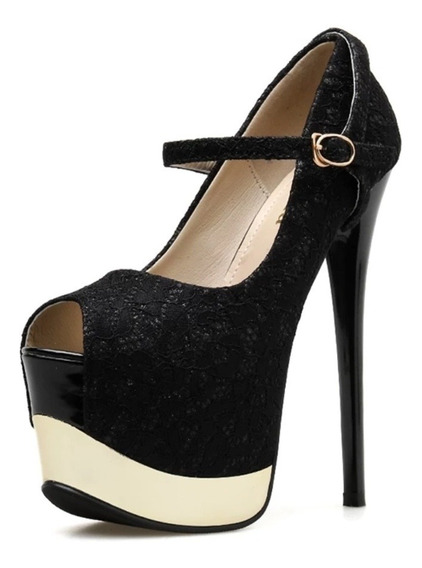 Lindo Sapato Feminino Luxo Importado - Pronta Entrega