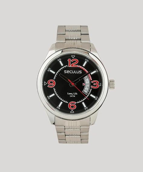 Relógio Seculus Masculino Analógico Prata 23647g0svna2