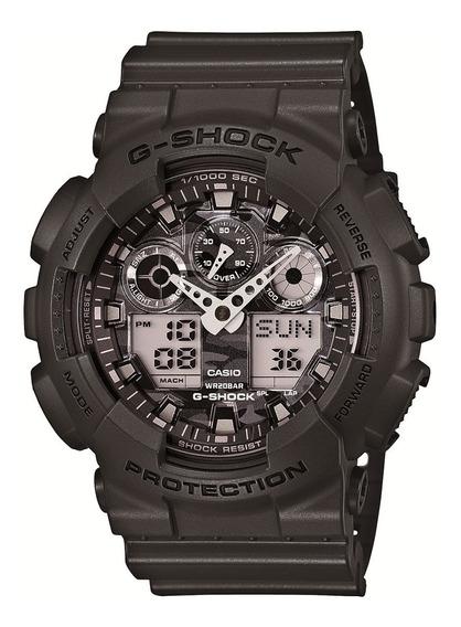 Relógio Casio G-shock Analógico Ga-100cf-8adr - Chumbo