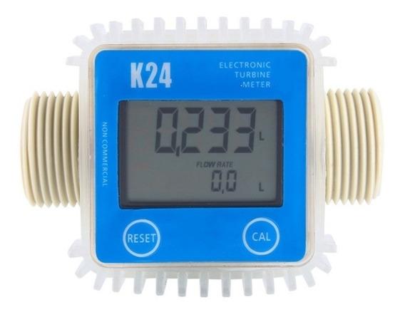 Medidor Fluxo De Água Digital K24 Arla Óleo Diesel Gasolina