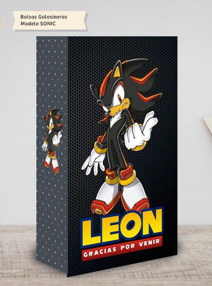 30 Bolsitas Personalizadas Golosinera Sonic