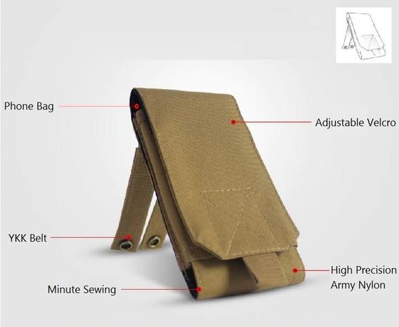 Porta Mag M4 Rifle Airsoft Paintbal Cor Tan Baofeng Radio T4