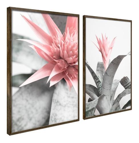 Quadro Decorativo Botânico Folha Quarto Sala Moldura