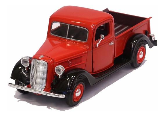 Miniatura Pickup Ford 1937 Vermelha Motormax 1/24