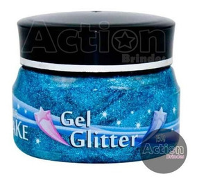 Gel Glitter Azul 150g - Color Make