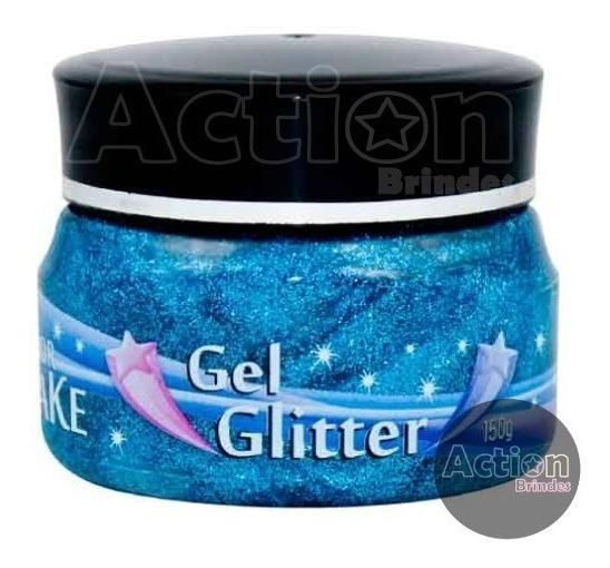 Gel Glitter Azul 150g - Color Make