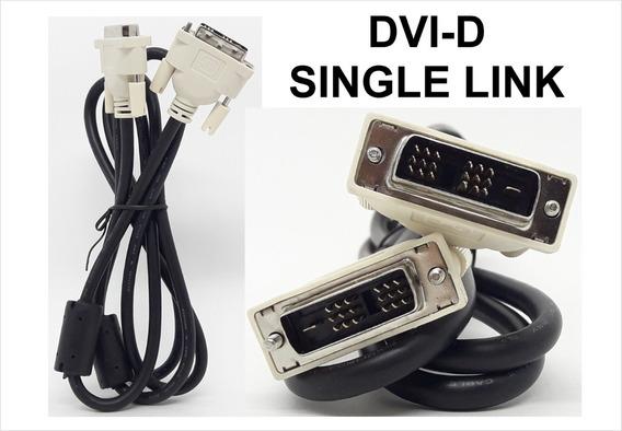 Cabo Dvi Digital Single Link Dvi X Dvi 18+1 De 1.5 Mts
