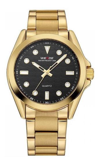 Relógio Masculino Weide Analógico Wh-802 - Dourado E Preto