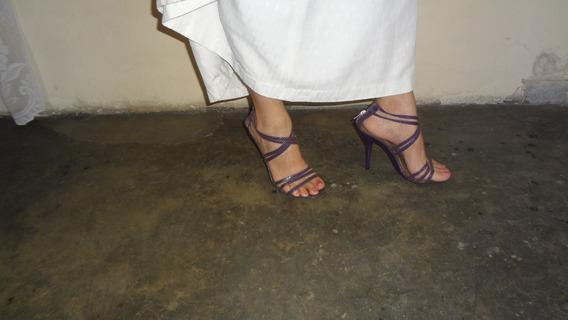 Sandalias Para Damas Talla 37. Color Lila (leer)