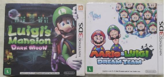 Luigi Mansion E Mario E Luigi Dream Team Games 3ds