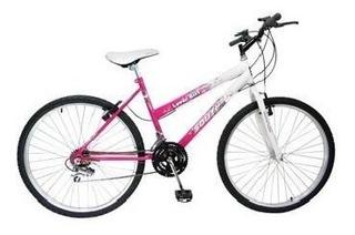 Bicicleta South Mountain Bike, 18 Marchas, Aro 26, Branco