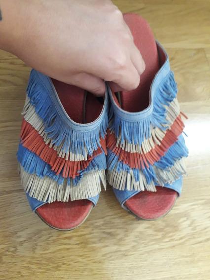 Zapatos Símil Suecos Marca Juana Pascale. Usados. T 36,5/37