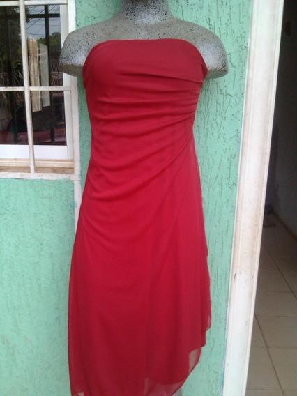 Vestido Rojo Talla M Strapless Trae Su Shall Mismo Color