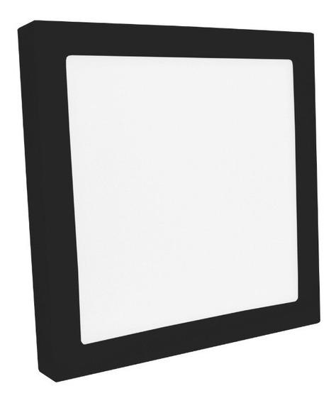 Plafon Sobrepor Quadrado Led 25w Painel Preto Bivolt 30x30