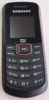 Celular Samsung Gt-e1086/l - Com Caixa - Vermelho - Com Fm