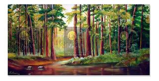 Cuadro Obra De Arte Bosque Tropical Lienzografia